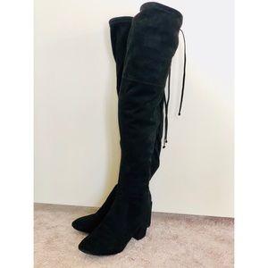 Catherine Malandrino, Pocha OTK Tie Boots Blk 8.5